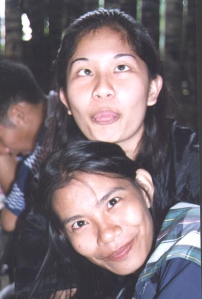 Veron and Jen making faces (or do they look like that all the time?  j/k!)
