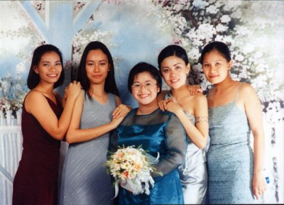 Jen, Grace, me, JP, and Veron.  May 1, 2001 - Libo-on 25th anniversary