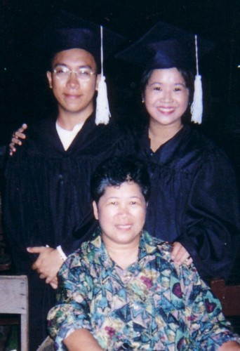 Ferdie and me with my mom