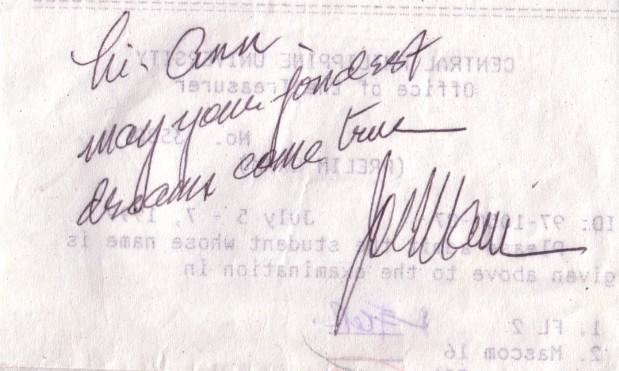 Jose Mari Chan's autograph