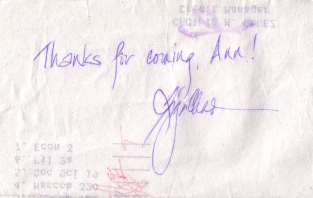 Lisa Chan's autograph