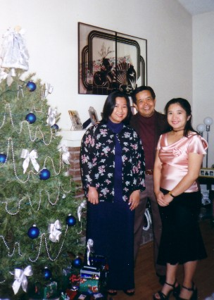 me with Dad and Joy